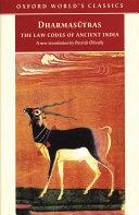 The Dharmasutras