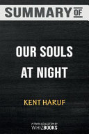 Summary of Our Souls at Night  Vintage Contemporaries  Book