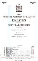 The National Assembly of Pakistan Debates