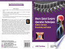 Neuro Spinal Surgery Operative Techniques  Anterior Cervical Discectomy and Fusion