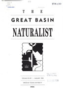 The Great Basin Naturalist