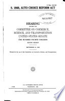 S. 1860, Auto Choice Reform Act