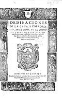 Pdf Ordinaciones de la Casa, y Cofradria de Ganaderos, de la Ciudad de Çaragoça, etc