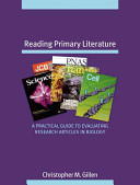 Reading Primary Literature