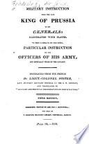 Military Instruction from the Late King of Prussia to His Generals Book