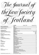 The Journal of the Law Society of Scotland