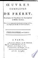 Œuvres complètes de Fréret ...