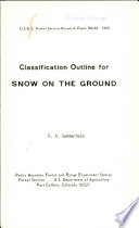 Classification Outline for Snow on the Ground