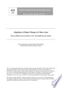 Adapting to Climate Change in Urban Areas