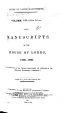 The Manuscripts of the House of Lords Book