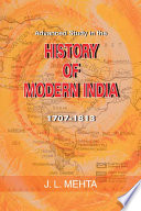 Advanced Study In The History Of Modern India 1707 1813