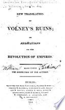 A New Translation of Volney s Ruins