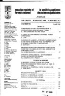 Canadian Society of Forensic Science journal Book