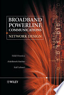 Broadband Powerline Communications Book PDF