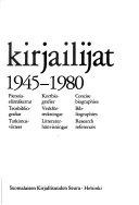 Finlands författare 1945-1980