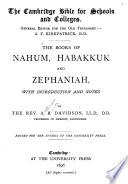 The Books of Nahum  Habakkuk and Zephaniah
