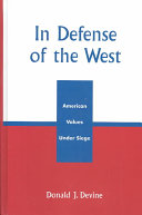 Pdf In Defense of the West