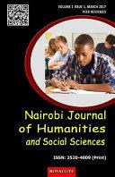 Nairobi Journal of Humanities and Social Sciences