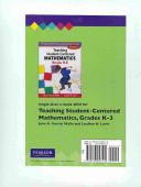 Teaching Student Centered Mathematics Grades K 3 Book PDF
