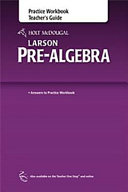 HOLT MCDOUGAL LARSON PRE-ALGEB