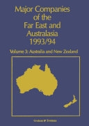 Major Companies of The Far East and Australasia 1993 94