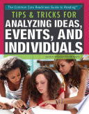 Tips   Tricks for Analyzing Ideas  Events  and Individuals Book