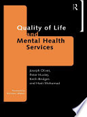 Quality Of Life And Mental Health Services Book PDF