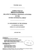 Compilation of Regulations Related to Mineral Resource Activities on the Outer Continental Shelf