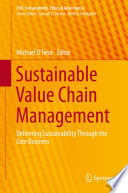 Sustainable Value Chain Management Book