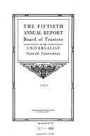 Annual Report Of The Board Of Trustees Of The Universalist General Convention