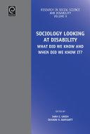 Sociology Looking at Disability