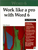 Work Like A Pro With Word 6 For Windows