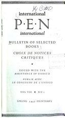 International P.E.N Bulletin of Selected Books