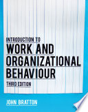Introduction to Work and Organizational Behaviour Book
