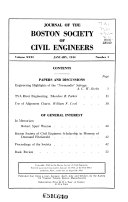 Journal of the Boston Society of Civil Engineers