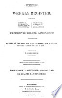Niles Weekly Register From March To September 1822 Vol Xxii Or Volume X New Series Book PDF
