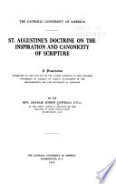 St. Augustine's Doctrine on the Inspiration and Canonicity of Scripture ...