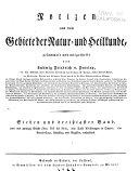 Notizen aus dem Gebiete der Natur- und Heilkunde ...