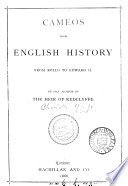 Cameos From English History By The Author Of The Heir Of Redclyffe