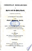 Christian Researches in Syria and the Holy Land, in 1823 and 1824