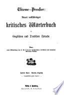 Neues vollständiges kritisches Wörterbuch der englischen und deutschen Sprache