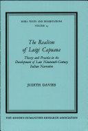 The Realism of Luigi Capuana