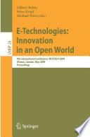 E Technologies Innovation In An Open World Book PDF