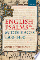 English Psalms In The Middle Ages 1300 1450