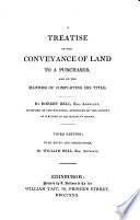 A Treatise on the Conveyance of Land to a Purchaser  and on the Manner of Completing His Title