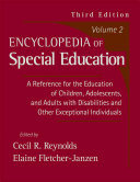 Encyclopedia Of Special Education Book PDF