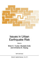 Issues in Urban Earthquake Risk