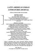Latin American Indian Literatures Journal
