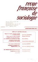 Revue française de sociologie