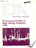 Performance Profiles of Major Energy Producers